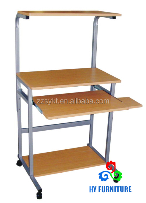 Modern design mdf metal computer desk tables with shelf