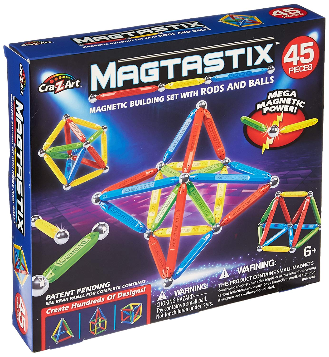 Cra-Z-Art Magtastix Balls & Rods Building Kit (45 Piece)