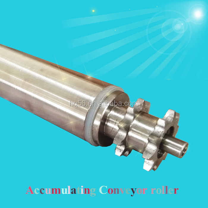 Stainless steel material accumulation conveyor roller