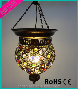 Hot Selling Turkish Mosaic Glass Lamp/arabic Chandelier