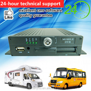Vehicle DVR with 4 Camera Kit Mobile DVR Camera System for Bus Taxi