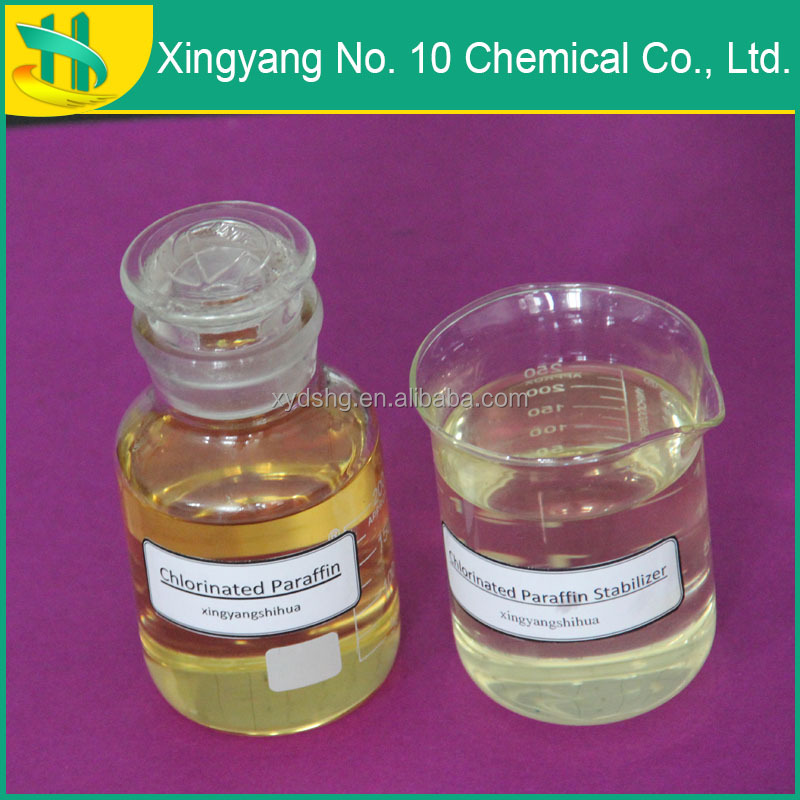Yellow liquid chlorinated paraffin in chemical industry Flame retardant Chlorinated Paraffin 52