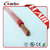 Red Building wire Stranded Bare Copper 8AWG/10AWG/12AWG Nylon jacket THHN electric cable