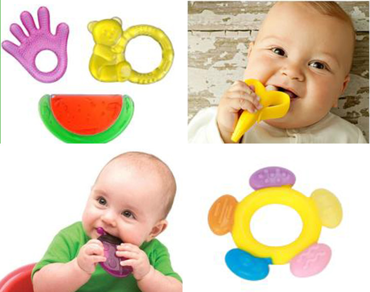 100% BPA Free baby teether toys / silicone baby teether
