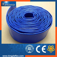 16 Inch Blue PVC Lay Flat Water Pump Irrigation Discharge Hose