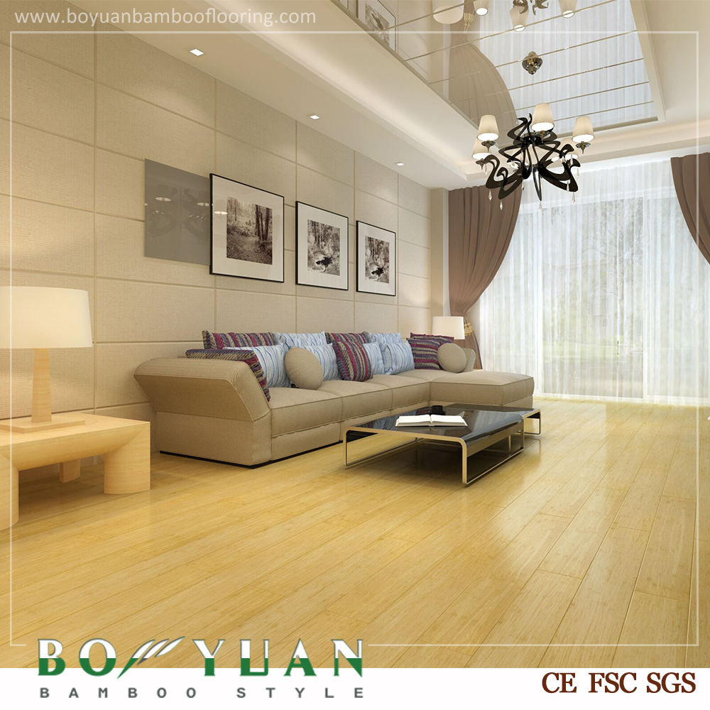 Click-lock Imitation solid wood norway yellow Bamboo Flooring