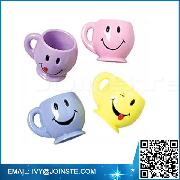 Smile Face Mini Mugs four color personalized ceramic coffee mug tea mug for sale