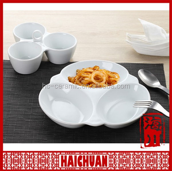 Wholesale ceramic compartment plate,cheap ceramic dinner plate for africa