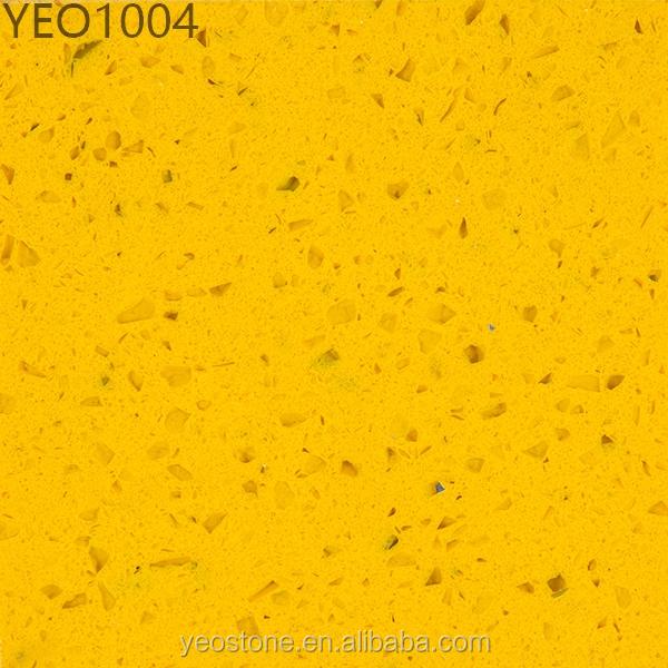 New Man Made Stone Yellow Quartz Countertop