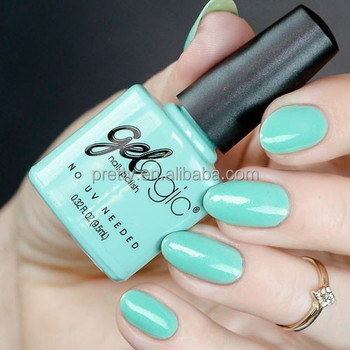 Light Green Gelogic Nail Polish Non Toxic Made In USA Matte Pack