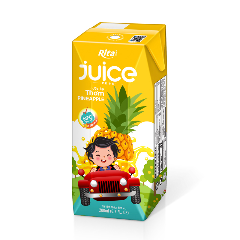 100% Natural Kids Hot Sales Pineapple Fruit Juice Drink