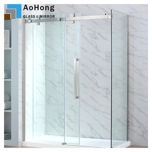 Tempered Glass Door in the Bathroom