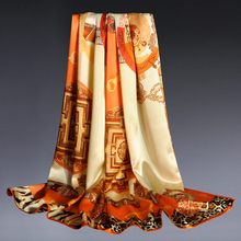 Chinese silk Women Digital Printing Silk Stain Long scarves and shawls 180x70cm