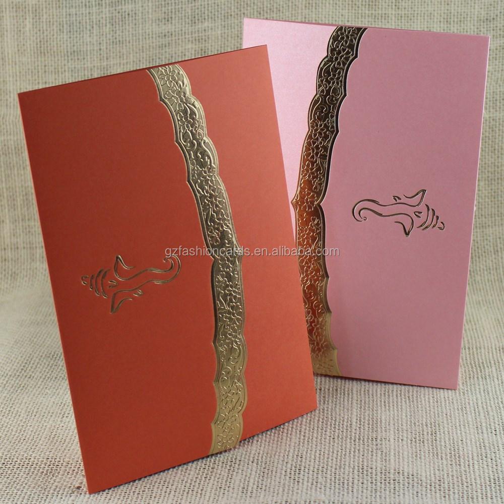 Simple Design Factory Direct Sale Cheap Hindu Wedding Cards