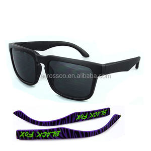 Matte Black UV400 Lens Sun glasses Interchangeable Temple Sports Sunglasses