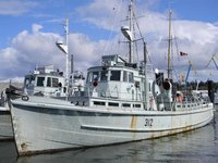 75 foot ex navy training vessel