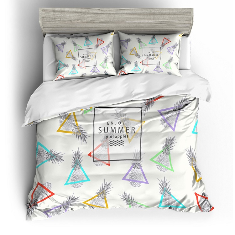 3d Style Fruits Pineapple Printed Bedding Sets Ready To