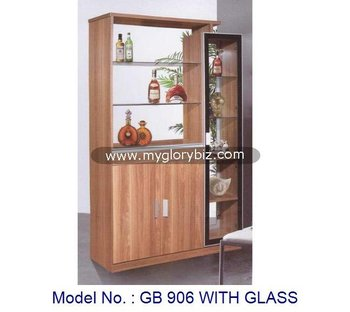 Simple Stylish Wooden Display Cabinet With Glass, Living Room Cabinet  Furniture With Showcase, Modern