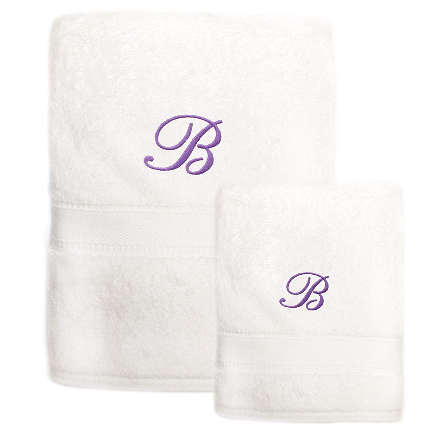 Get Quotations · Authentic Hotel and Spa Sweet Kids 2-piece White Turkish  Cotton Bath and Hand Towel 5ed3cfab0
