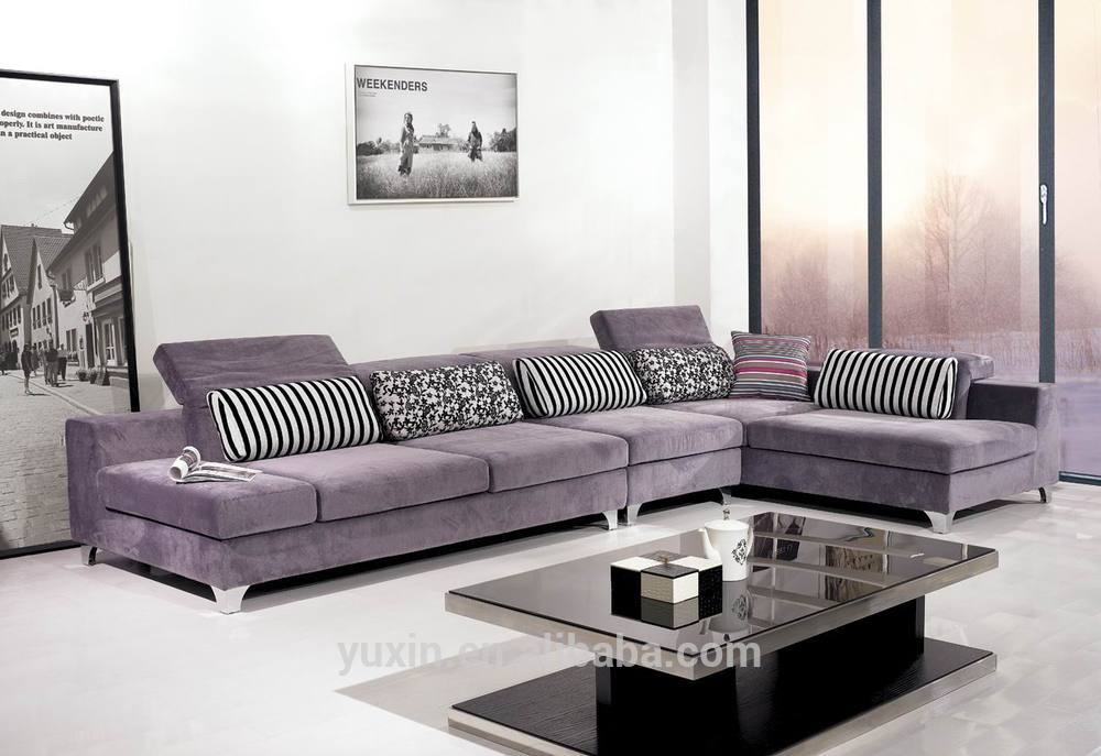 New Arrival Modern Living Room Wooden Furniturecorner Sofa Set