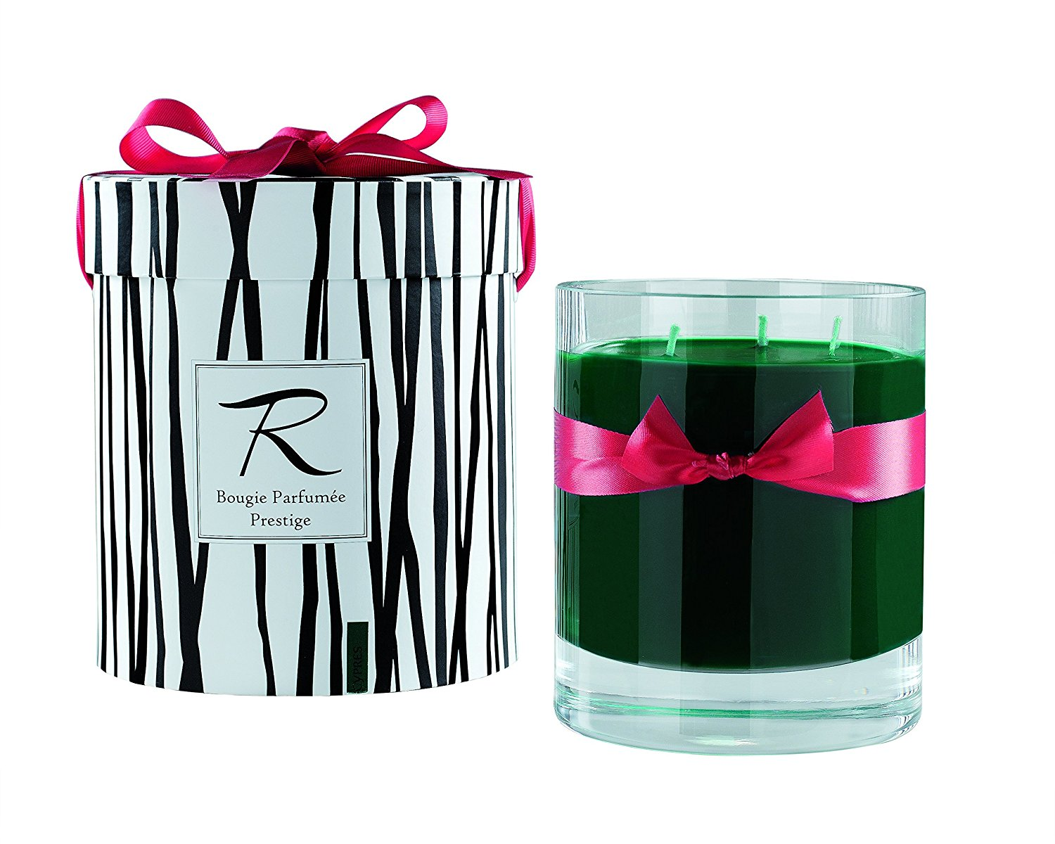 """Rigaud Paris, Cypres Bougie Parfumee Prestige, Large 3-wick """"Prestige"""" Model Candle, Green, 6"""" Tall, 150 Hours Burn, 26.5 Oz, Made in France"""