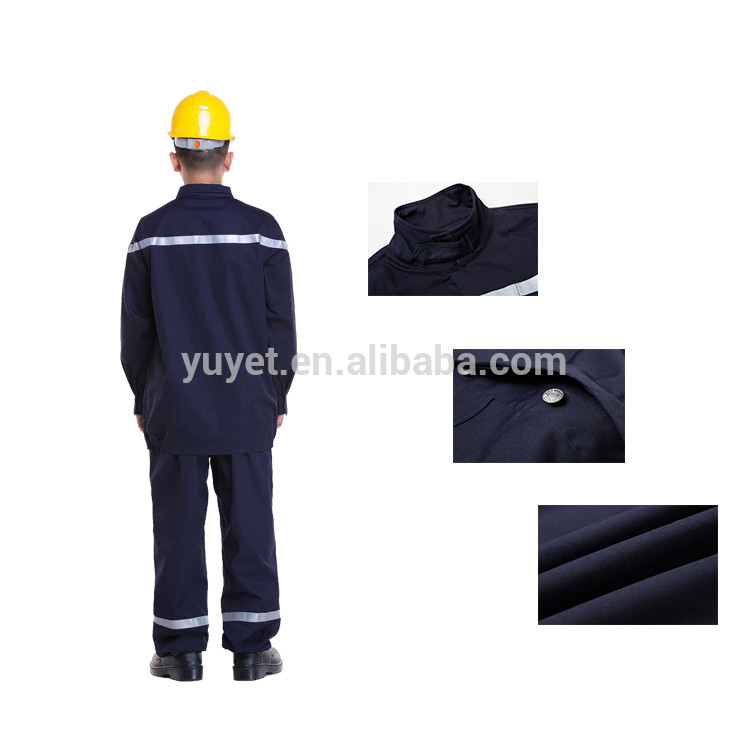 Safety Clothing Hard-Working Mens Reflective Safety Industrial Workwear Jacket And Trouser Work Set Clothing With Reflective Stripe Embroidery Logo Printing Workplace Safety Supplies