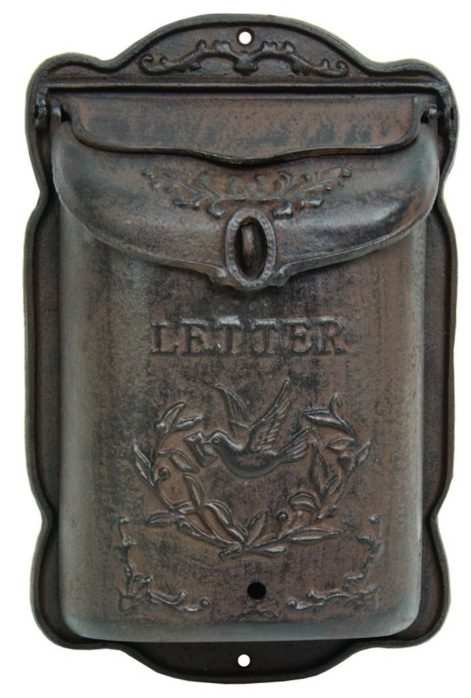 Cast Iron Mailbox Metal Mail Box Wall Mount Lockable