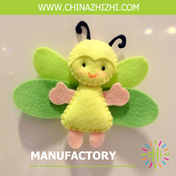 cute beautiful doll with wing soft felt toys wholesale china