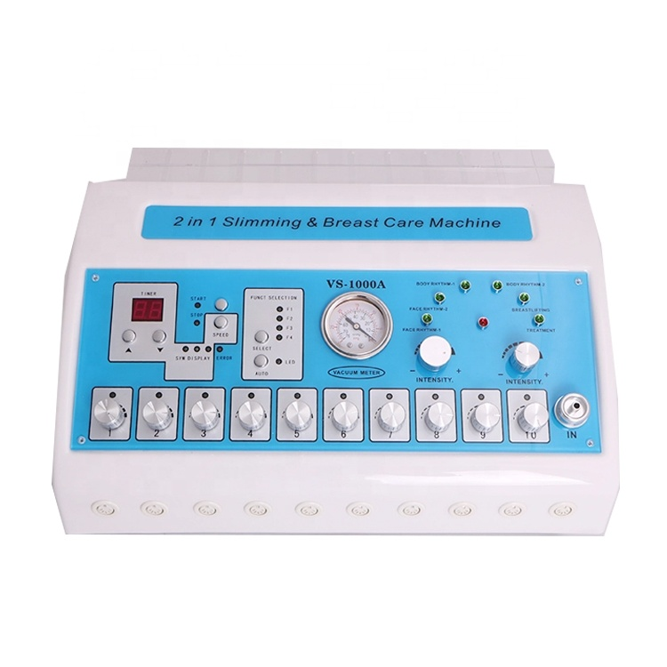 Portable 2 In 1 Electric Muscle Stimulator Weight Loss and Vacuum Breast Enhancer Machine on Sale