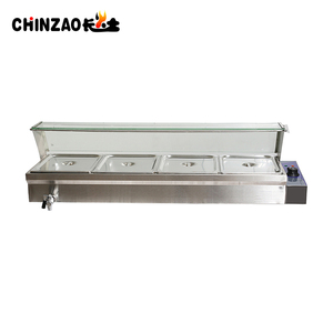 Low Price Stainless Steel Electric Bain Marie With Glass Cover