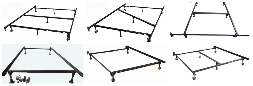 Chinese Cheap Durable Angle Iron Metal Queen Bed Frames