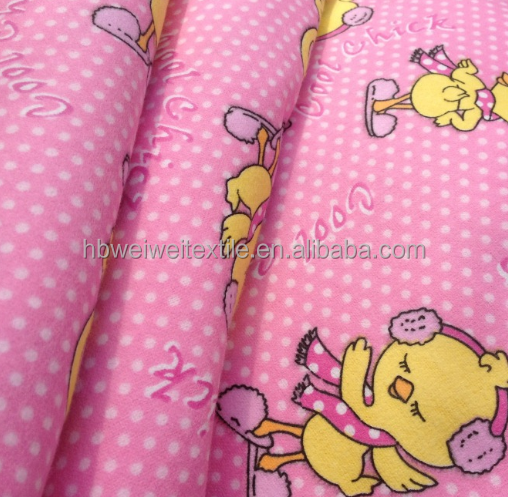 printed cotton fleece fabric for blanket