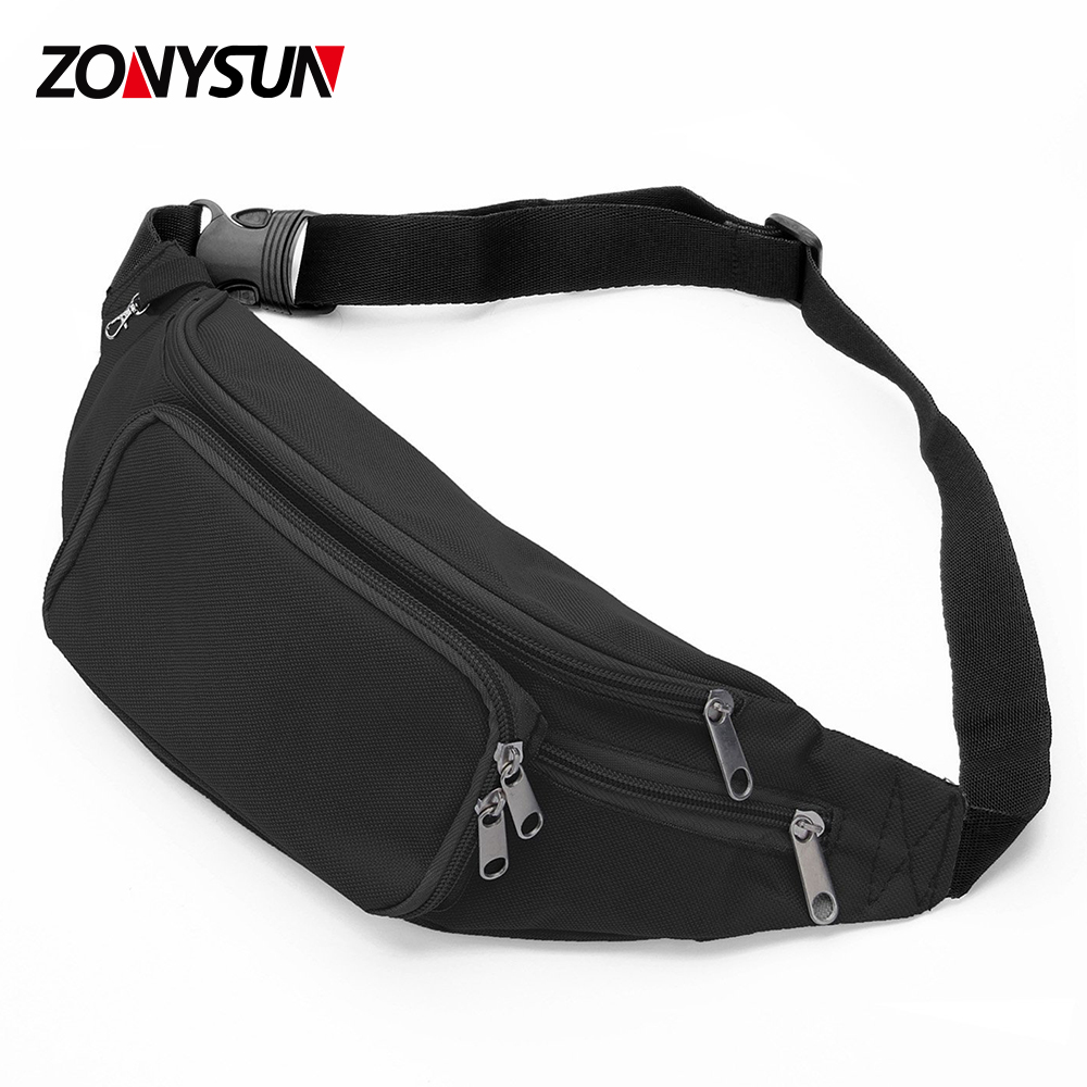 06ae17450c45 Adjustable Waist Belt 5-zipper Pockets Fanny Pack Custom Print Waist Bag  Wholesale - Buy Waist Pouch Bag Waterproof Adjustable Running Belt Bum ...