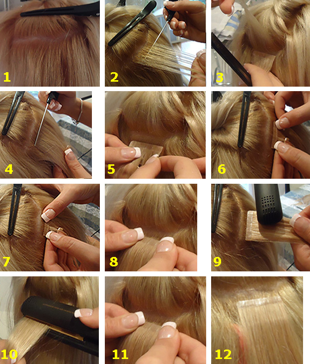 Tape In/on Remi Hair Extensions Real Hair 3m Glue Tape Black/brown ...