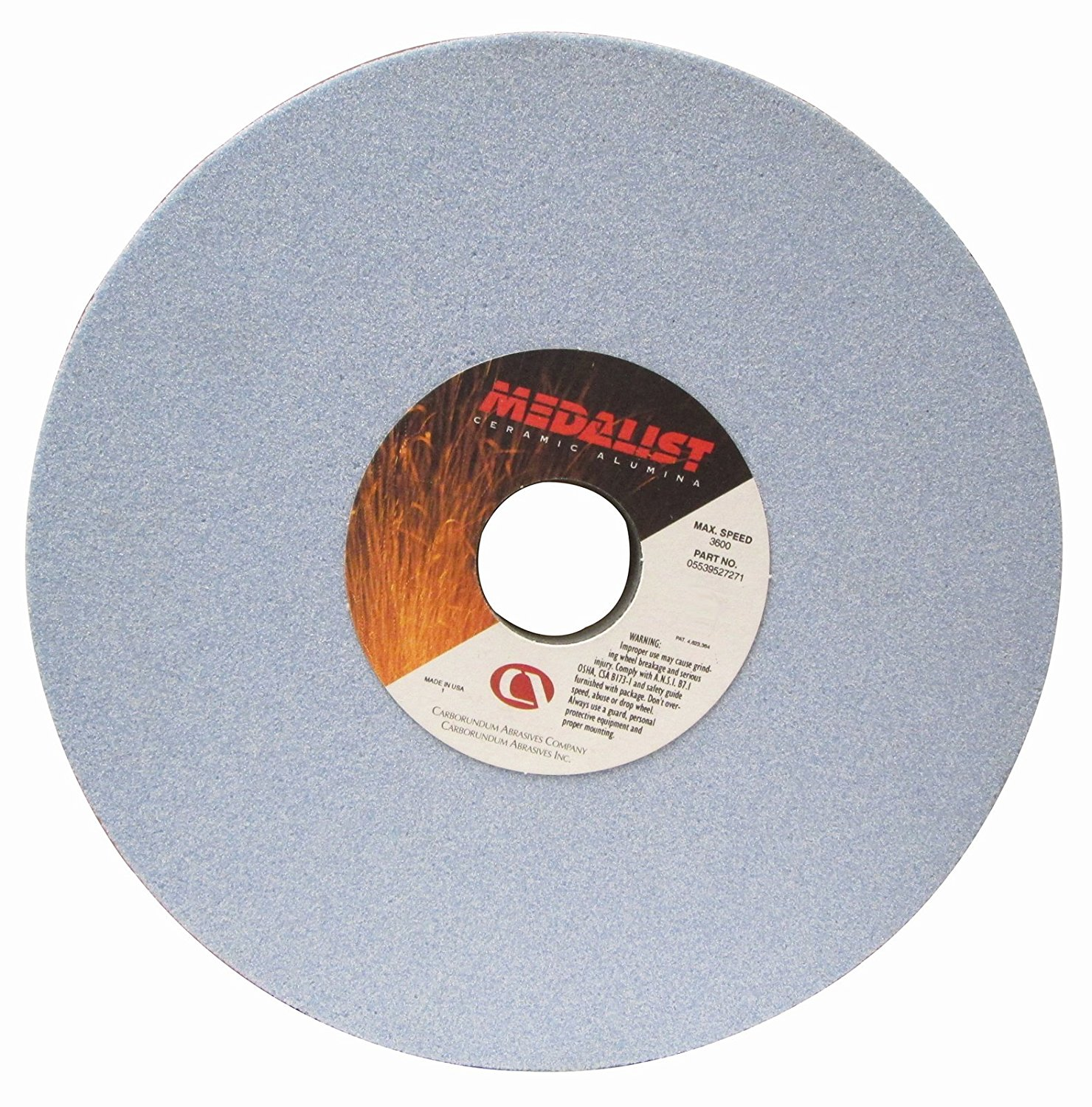 Type 01 No Recess Specification: RA46-J8-V8 Size: 6 x 1//2 x 1-1//4 STYLE: Straight RADIAC Ruby Surface Grinding Wheel