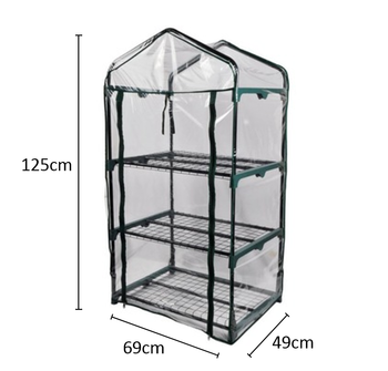 Vertak Steel Frame & Pvc Cover Of 3-tiers Mini Greenhouse For Garden,Patio  Or Backyard - Buy Mini Greenhouse,3-tiers Mini Greenhouse,3-tiers Mini