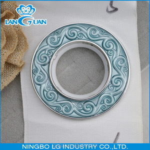 plastic embossed pattern fancy curtain eyelet ring