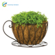Coffee Cup Shape Metal Garden Wire Planter