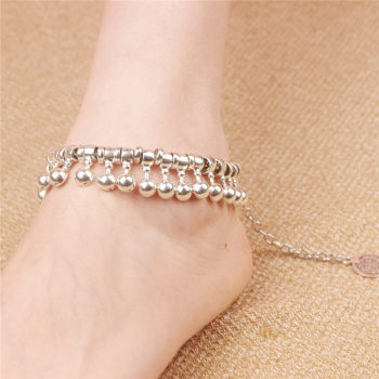 Beautiful Indian Dance Silver Anklet With Bells Ankle Bracelet