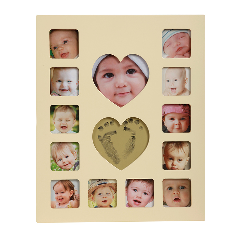 Baby 12 Month Photo Frame Safe Inkless Ink Pad Newborn Baby Handprint Or Footprint Ink Pad