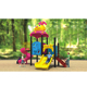 Outdoor playground kids slide colorful equipment sets for garden outdoor playgroundHFC148-2