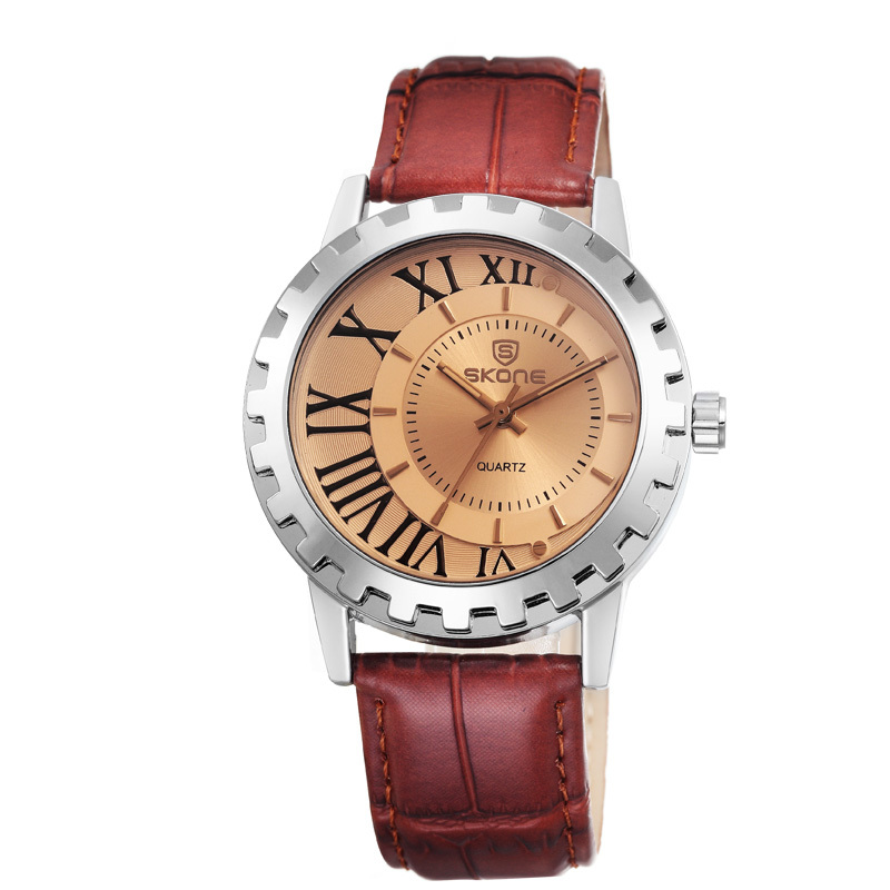 International Brand Skone Factory Leather Strap Watch