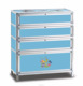 modern style tempered glass aluminum shoes cabinet.