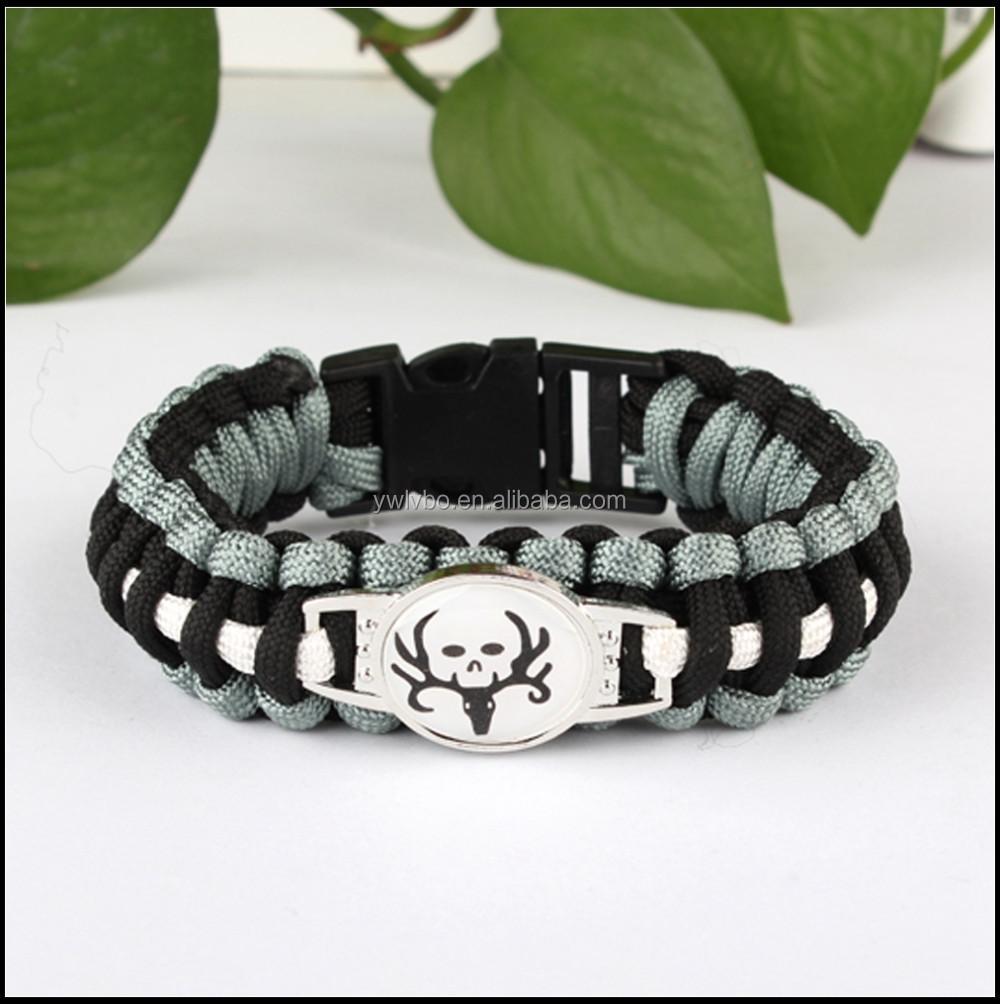 Nfl Team Paracord Bracelet Custom With Metal Plate Logo