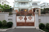 Aluminum/metal/iron/wrought iron/forged iron driveway gate