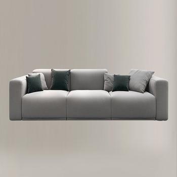 Hot Sale Wooden Design Fabric Corner 3 Seater Sofa Set For ...