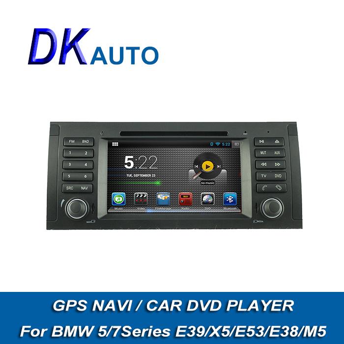 hot car dvd player for bmw e39 x5 e53 e38 m5 android 1 din. Black Bedroom Furniture Sets. Home Design Ideas