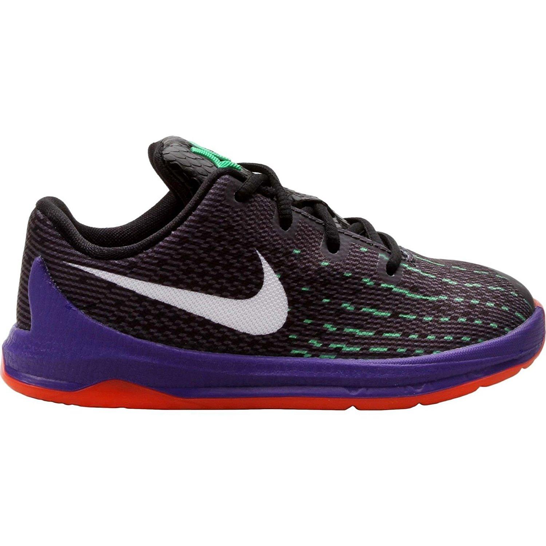 27780555d200 Nike KD 8 Preschool Boys Shoe Black Green Shock Hyper Orange White 6C