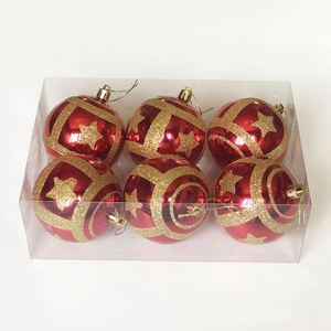 2020 New coming christmas decor Xmas Craft free logo christmas plastic ball