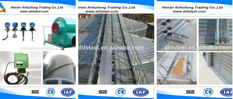 High quality used grain bins sale/steel grain silos price